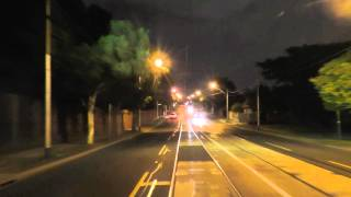 Melbourne Tram Driver View Video at Night - Route 48.