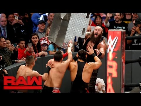 Braun Strowman destroys Darren Young, Bo Dallas and The Shining Stars: Raw, Dec. 26, 2016