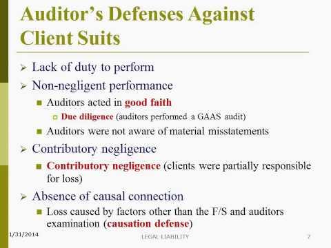 Auditor's Defenses Against Client Suits