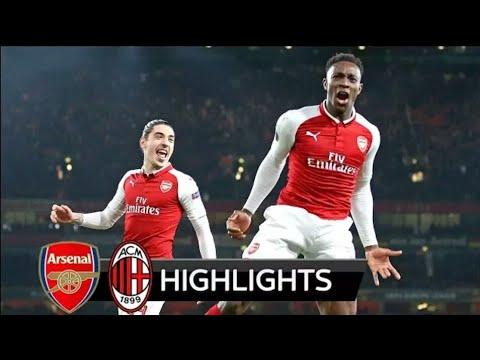Arsenal vs Milan 3-1 - All Goals & Extended Highlights - UEL 15/03/2018 HD