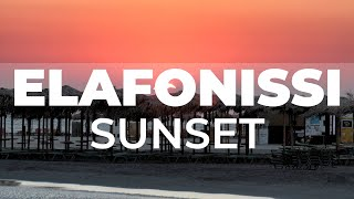 Sunset on Elafonisi beach