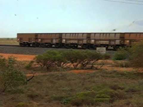 Jules Pilbara WA Iron Ore train movie 002.avi