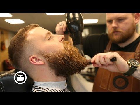 Beard styles - Viking Style Beard Trim with Choppy Top Haircut