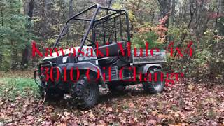 7. Kawasaki MULE LIFTED 3010 Oil Change