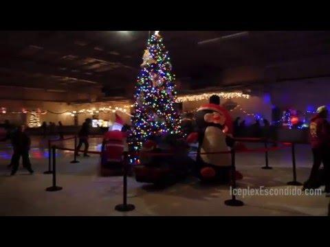 Holiday Ice Skating in San Diego at  Iceplex Escondido's Winter Wonderland