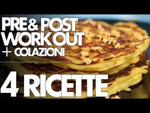 pre e post workout - ecco 4 ricette per colazione!