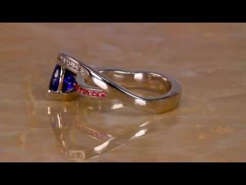 White Gold Tanzanite Ring 1.45 Carat