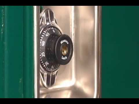 Screen capture of Master Lock Locker Locks Built-In Combination Change Procedure