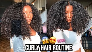 Video CURLY HAIR ROUTINE | FOR DEFINED & LONG LASTING CURLS! MP3, 3GP, MP4, WEBM, AVI, FLV Juli 2018