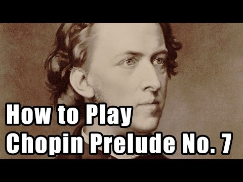 How to approach the Prelude No. 7 in A major by Chopin