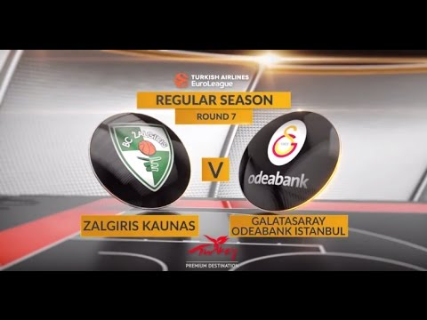 EuroLeague Highlights RS Round 7: Zalgiris Kaunas 87-75 Galatasaray Odeabank Istanbul