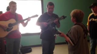 Silas  Powell and Johnny Staats Whiskey before breakfast  10 year old Mandolin picker