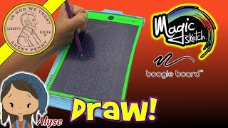 Item provided by Magic Sketch for ReviewAlyse really likes doing artistic projects and this Magic Sketch will be a lot of fun for her.  She spent an hour playing hang man with her sister after the video.  She also enjoyed doing more pictures and practicing her techniques with the different drawing tools.  This will stay in her collection of toys she can grab and play with when she is looking for something to do!  Lucky Penny ThoughtsLPS-DaveLater!▶ About UsLucky Penny Shop is a family-friendly YouTube channel that features videos of kids food maker sets, slime, putty, new & vintage toys, games and candy & food from around the world! There are over 5500 videos!▶ Product InfoMagic Sketch Boogie Board - Puzzles, Games, Art & School All In One!Visit us online ▶ http://www.luckypennyshop.com/magic-sketch-boogie-board/▶ Watch More VideosFun Toys and Products: https://www.youtube.com/watch?v=BQI88TMUVAE&index=1&list=PL27_x9U5H26sW-rQwqVSH9Eoy6NhP5P4BGiant Jenga Worlds Largest Licensed Wood JENGA TOWER! Comparing 3 Jenga Towershttps://www.youtube.com/watch?v=odcxOiEgUFMvNEW! Tickle Me Elmo Is Back And He Is As Ticklish As Ever! Comparing An Original Tickle Me Elmohttps://www.youtube.com/watch?v=sQGleP5CCu8The Amazing Star Cube Transforming Geometric Puzzle - Stellated Rhombic Dodecahedronhttps://www.youtube.com/watch?v=o4cqIQGZ3cw▶ Follow UsTWITTER  http://twitter.com/luckypennyshop FACEBOOK  http://www.facebook.com/LuckyPennyShopINSTAGRAM  http://instagram.com/LuckyPennyShopGOOGLE+  https://plus.google.com/+luckypennyshopPINTEREST  http://www.pinterest.com/luckypennyshop/LPS WEBSITE  http://www.luckypennyshop.com/Sound Effects by http://audiomicro.com/sound-effectsThis video is not intended as an endorsement of the product shown. We were not paid or provided other non-monetary advantages or incentives to show this product.