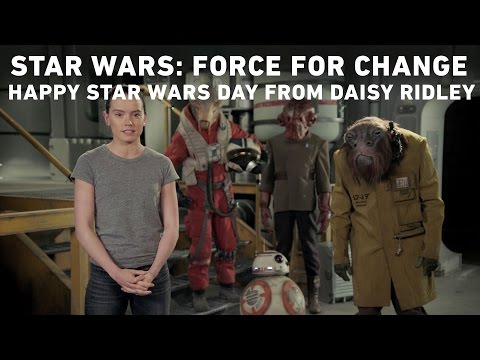 Daisy Ridley Wishes Fans a Happy Star Wars day