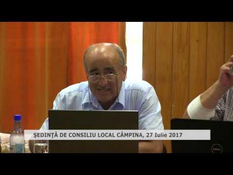 Ședința Consiliului Local Câmpina – 27 iulie 2017