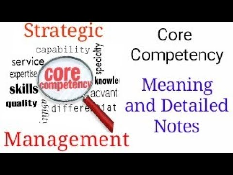 Core Competence - Detailed Notes With Complete Understanding - Strategic Management- CA IPCC Grp2
