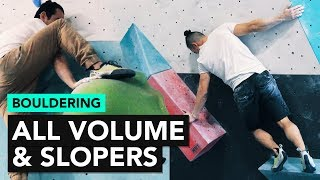 Bouldering: Slopers only and Volumes only climbs at Cliffs of ID by  rockentry