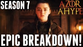 Game of Thrones Season 7 is finally here and this is my Breakdown for Episode 1 Dragonstone! This Episode Review focuses on ...
