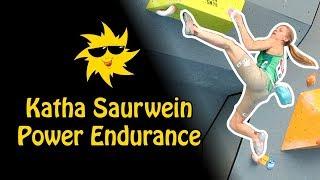 Katha Saurwein, Power Endurance | Sunday Sends by OnBouldering
