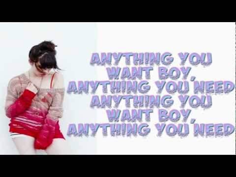 Carly Rae Jepsen - Sweetie (Official Lyrics Video)