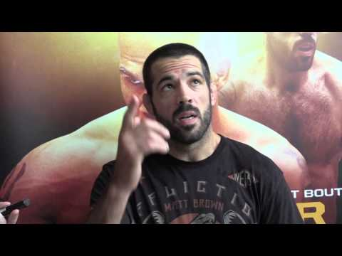 talks - http://www.MMAWeekly.com/ -- Matt Brown talks with the press from the SAP Center in San Jose, CA before his upcoming fight against Robbie Lawler.