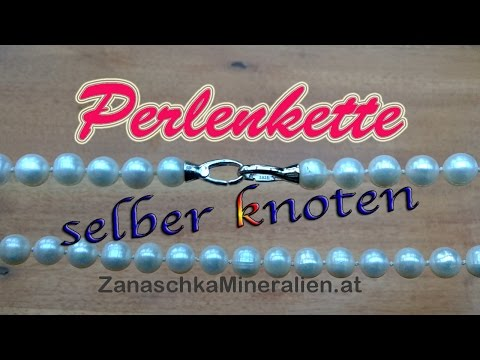 diy perlenkette knoten schmuck selber machen kette. Black Bedroom Furniture Sets. Home Design Ideas