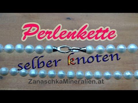 DIY Perlenkette knoten – Schmuck selber machen – Kette knüpfen – Halskette