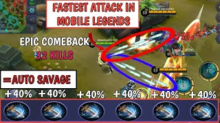 Video FASTEST ATTACK IN MOBILE LEGENDS | 6 WINDTALKER = AUTO SAVAGE | MOBILE LEGENDS MP3, 3GP, MP4, WEBM, AVI, FLV November 2018