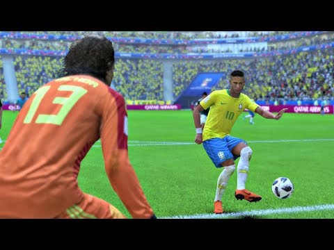 World Cup 2018 Brazil Vs Mexico - Round Of 16 Full Match Sim (FIFA 18)