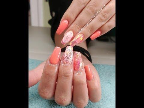 Acrylic Nails/CJP Smashed Peach