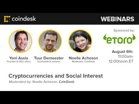 Cryptoassets and Social Signals - Webinar by CoinDesk video