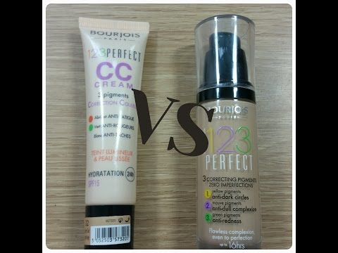 BOURJOIS 123 PERFECT FOUNDATION Vs BOURJOIS 123 PERFECT CC CREAM