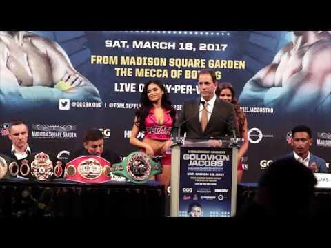 Gennady GGG Golovkin vs. Daniel Jacobs - press conference New York (видео)