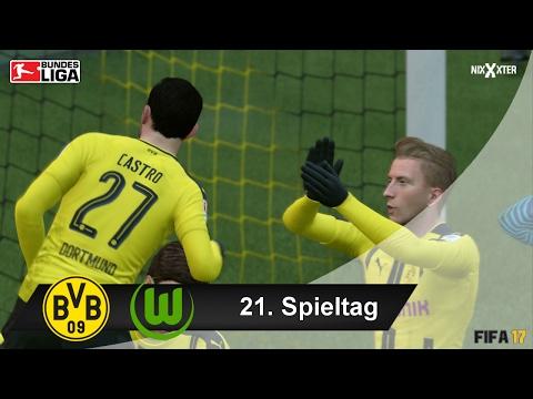 Borussia Dortmund vs VFL Wolfsburg Bundesliga 21. Spieltag All Goals   FIFA 17 Bundesliga Prognose