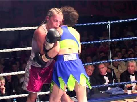 women topless boxing