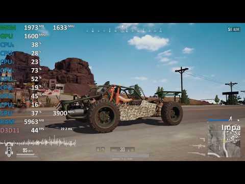 GPU@1600Mhz Ryzen 5 2400G Review PUBG. Gameplay Benchmark. Vega 11 iGPU