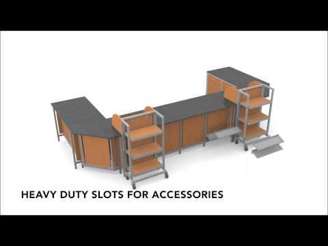 Retail Store Fixtures - Modular Counter System