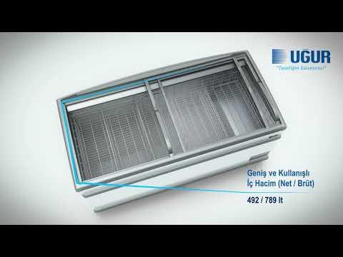 Uğur - UMD 1850 GB D/S BODRUM (Market Tipi Teşhir Dolapları)