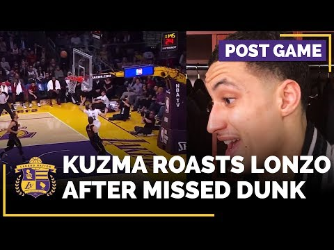 Video: Kyle Kuzma Roasts Lonzo Ball After Missed Dunk