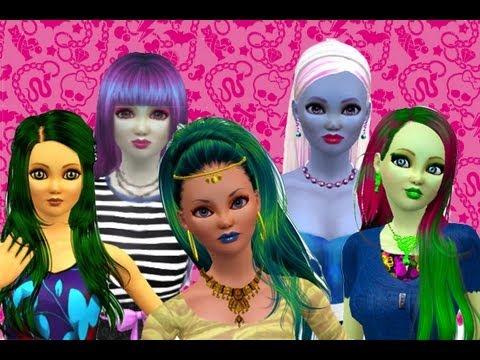 Nefera vs Rochelle vs Jinafire vs Abbey vs Venus! *Monster High Sims*