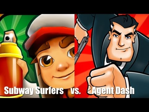 Раннер [Subway surfers vs. Agent Dash] (видео)