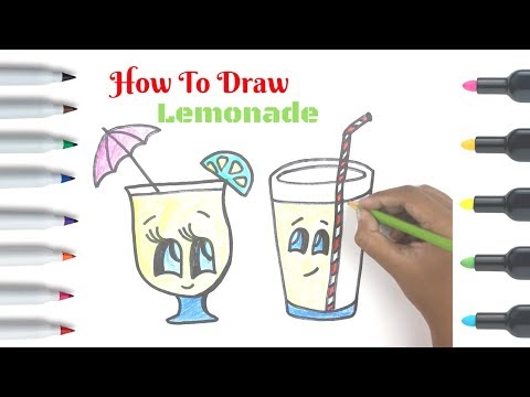 Video How To Draw Lemonade | Cartoon Drawing Lessons | Cute Easy Watermelon Drink download in MP3, 3GP, MP4, WEBM, AVI, FLV January 2017