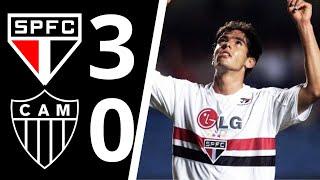 São Paulo vence o Galo mineiro no morumbi pela primeira fase do brasileirão em 2001. Gols de  Adriano, Kaká e Júlio Baptista.