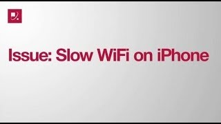 Issue: Slow WiFi on iPhone