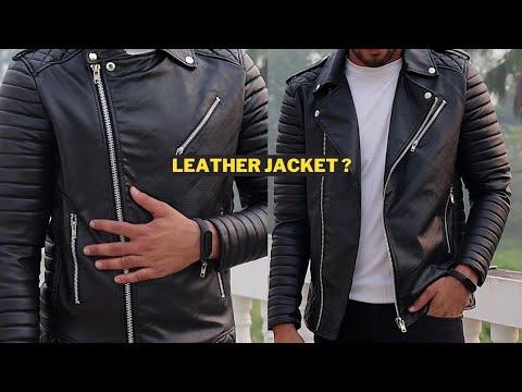 *Review* Best leather type jacket for men | Biker leather jacket for men under 1200? At Ajio.com