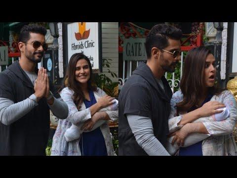 Neha Dhupia with baby Mehr Dhupia Bedi