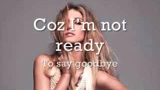Delta Goodrem - I'm Not Ready lyrics