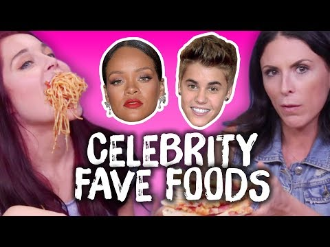 Trying Celebs' FAVORITE Foods! (Cheat Day)