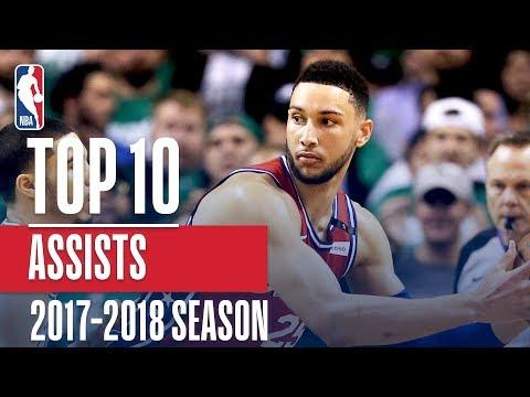 Top 10 Assists: 2018 NBA Season (видео)