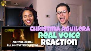 Video Christina Aguilera - Real Voice Reaction MP3, 3GP, MP4, WEBM, AVI, FLV Agustus 2018